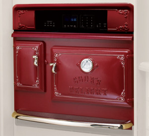 Red wall oven