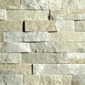 ErthCOVERINGS Cream Quartzite 3D Series Natural Stone Veneer Swatch