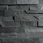 ErthCOVERINGS Springwood Black 3D Series Natural Stone Veneer Swatch