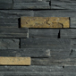 ErthCOVERINGS Springwood Black Ledgestone Series Natural Stone Veneer Swatch